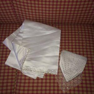 Maggie Sottero Wedding Wrap/Shaw and Purse